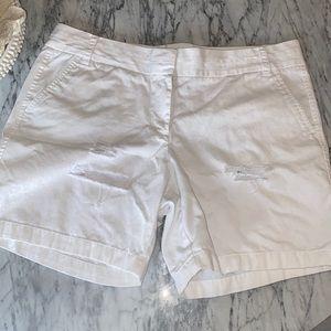 Jcrew White Chino Shorts